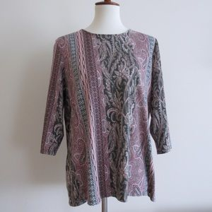 Chico's Paisley Pink Top